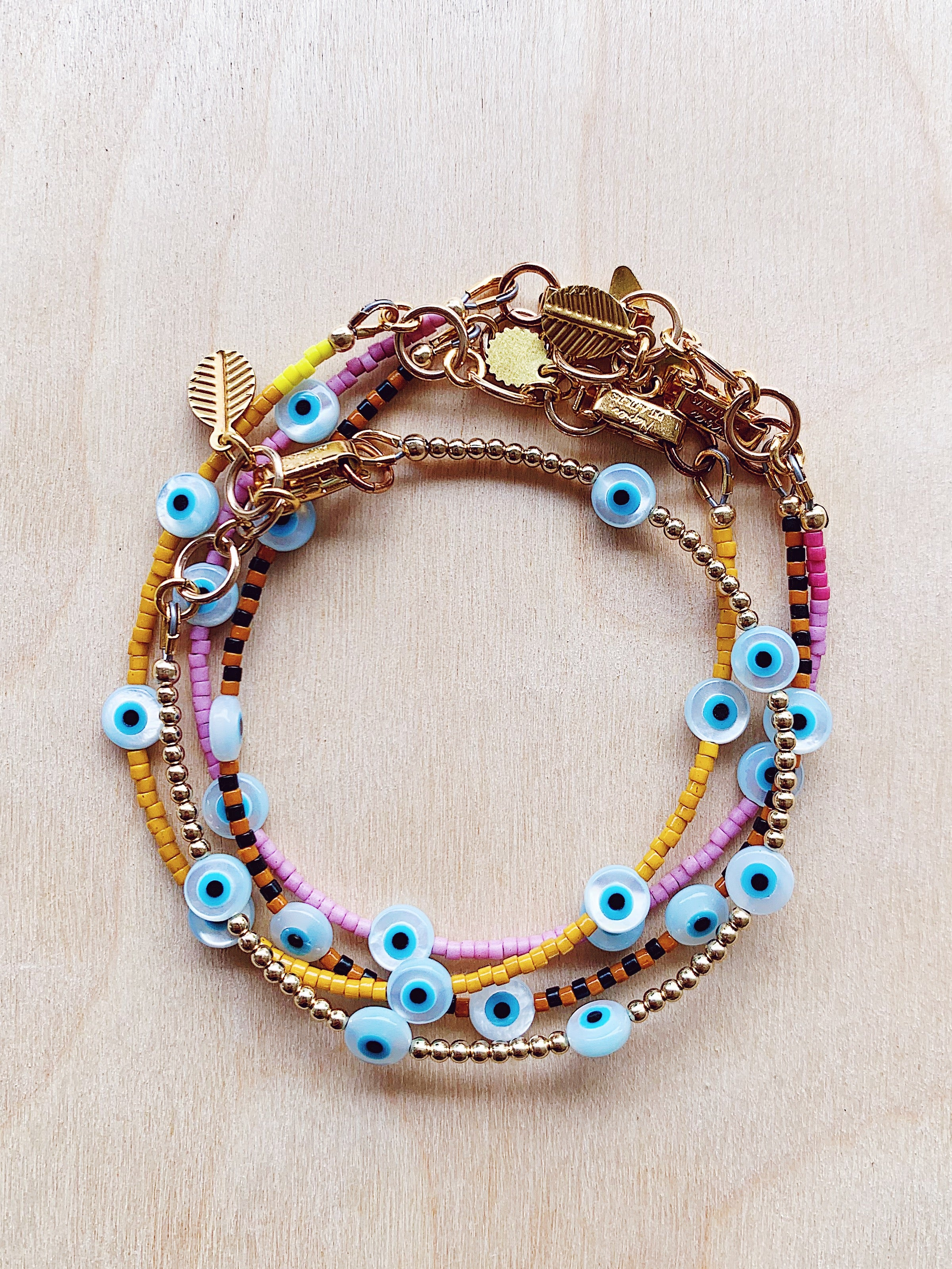 Evil Eye Bracelet - black / brown