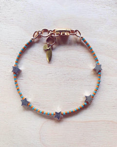 Starlette Bracelet - brown/teal