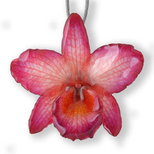 Pink Nobile Orchid necklace