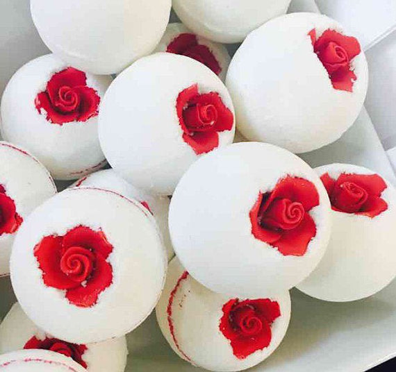 Mothers Day Beauty and The Beast Rose garden Bath bomb bath fizzy flower bath bomb beauty and the beast bath bomb