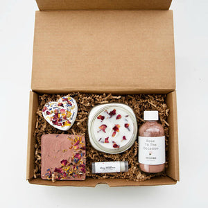 Wildflower Natural Bath Gift Set / Best Bath Box / Spa Gift Set / Bath Gift Box / Organic Bath Set / Natural Spa Set / All Natural Skin Care