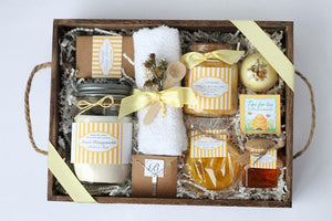 Bath and Body Honey lemon Spa gift set//Christmas Gift//Wedding Gift// Gift for her.