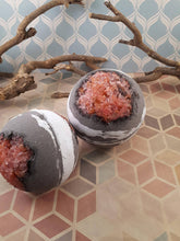 Dark Geode Bath bomb, fizzing bath bomb, aromatherapy, essential oils, bath salt, gift for him, gift for her, cruelty free, artisan