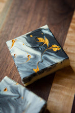 Golden Rain Drop.  An Olive Oil Soap, Activated Charcoal Soap.  Moisturizing, cleansing for combination skin, acne skin.
