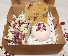 Natural Rose Soap and Bath Bomb Gift Set/Rose Bath Gift Set/Natural Handmade Rose Bath Gift Set/Gift for Her/Mother's Day Gift/Birthday Gift