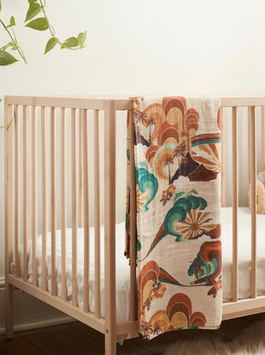 Rainbow Slider Organic Bamboo & Cotton Swaddle