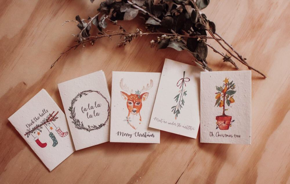 Mini Christmas Card 5 Pack