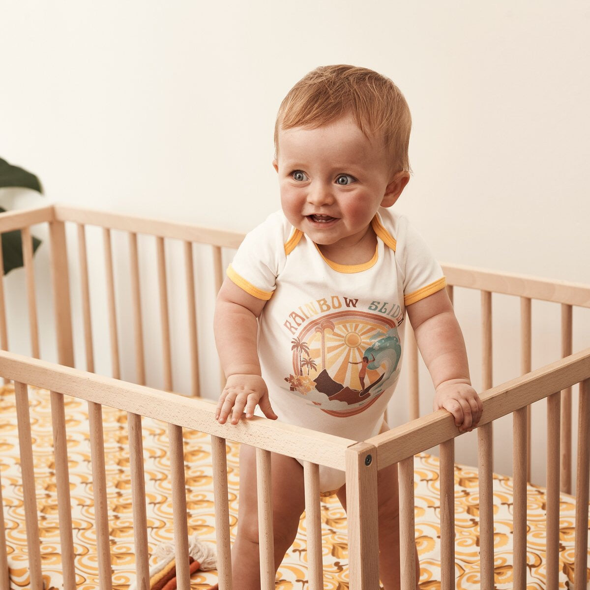 Rainbow Slider Organic Cotton Onesie