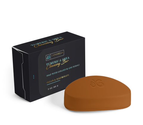 Tumeric and Shea Cleansing Bar Soap with Geranium & Neroli | CarmaBella Skincare
