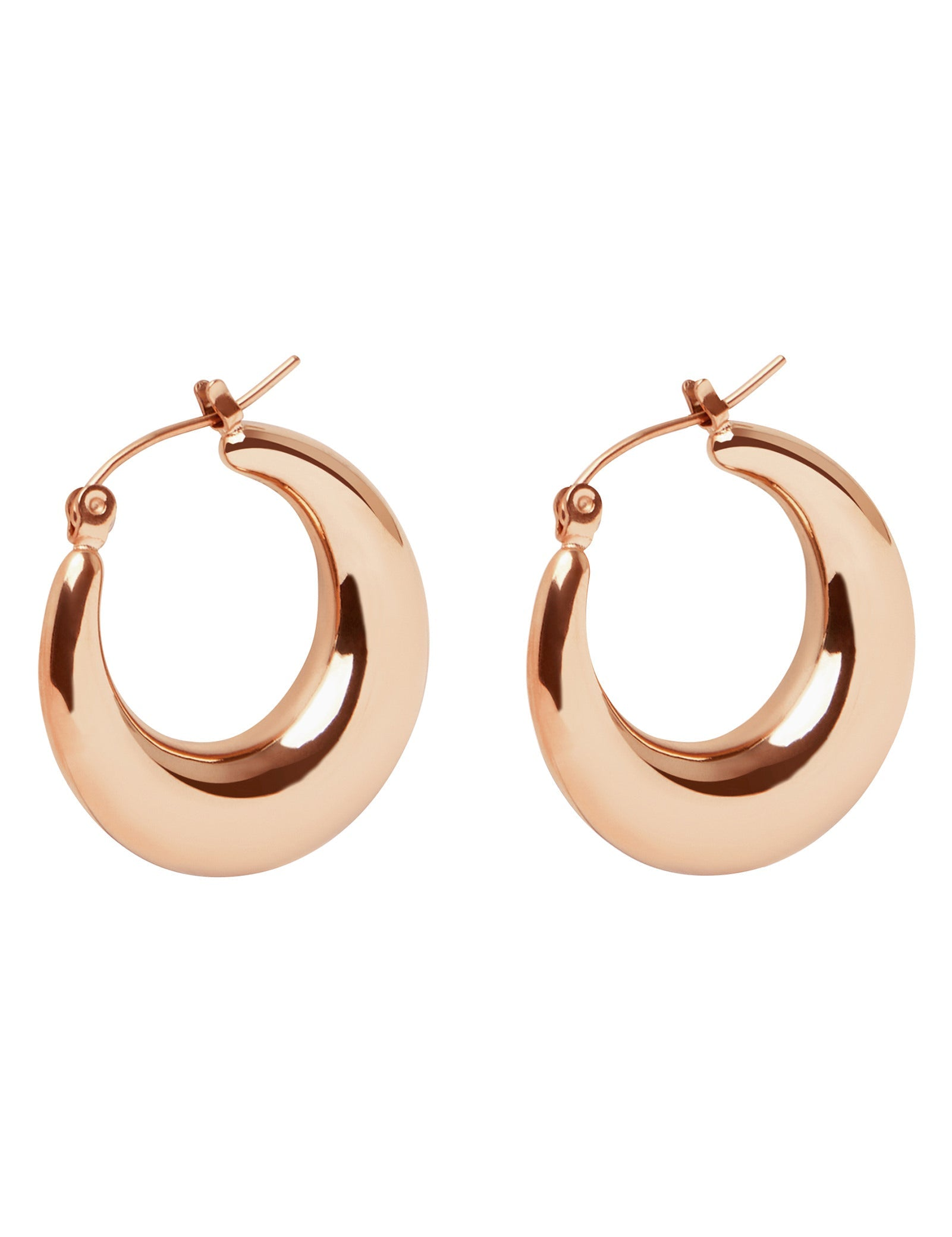 Pastiche  Cali Hoops - Rose Gold Earrings