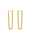 Pastiche Jewellery - Tessa Hoops - Yellow Gold Earrings