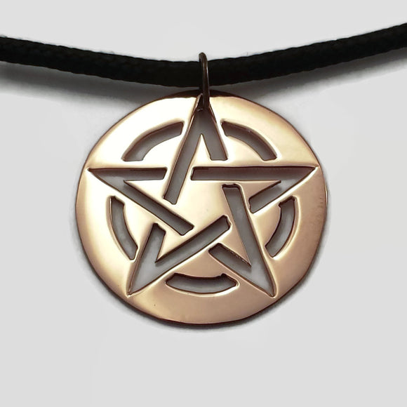 Circumscribed Pentagram Necklace