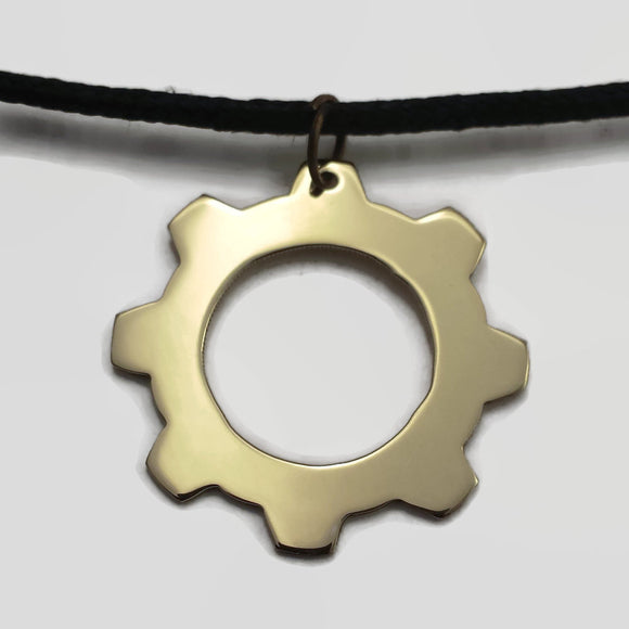 Gear Pendant Necklace