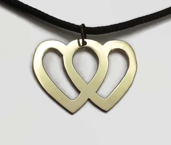 Entwined Hearts Pendant Necklace