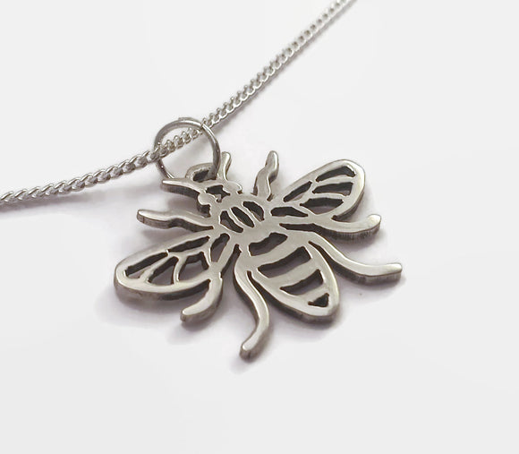Sterling Silver Manchester Worker Bee Necklace