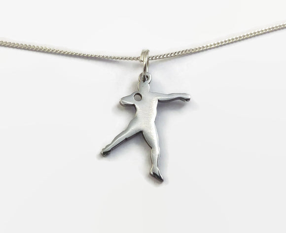 Sterling Silver Shot Put Necklace