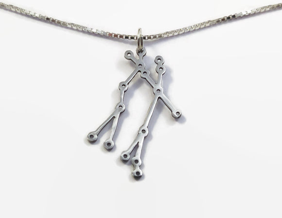 Sterling Silver Gemini Constellation Necklace