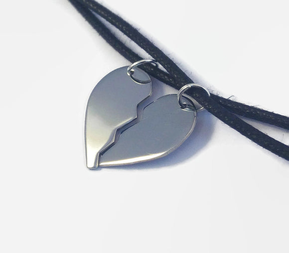 Matching Heart Pendant Necklaces