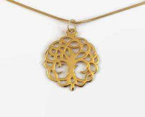 24 Carat Gold Plated Tree Of Life Necklace