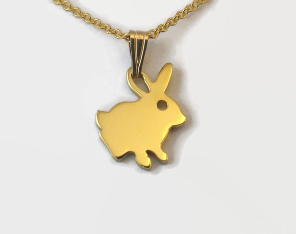 Tiny Gold Plated Rabbit Necklace
