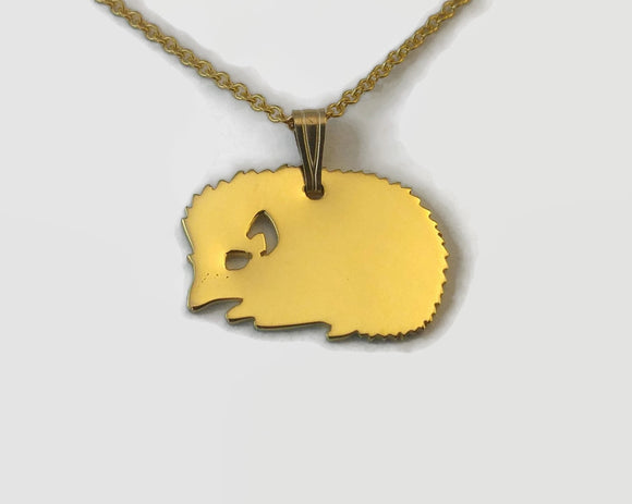 Tiny Gold Hedgehog Necklace