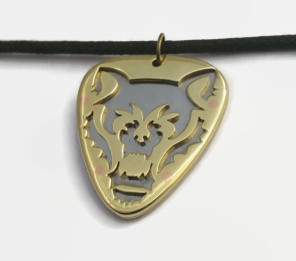 Fenris Wolf Cutout Layered Pendant Necklace