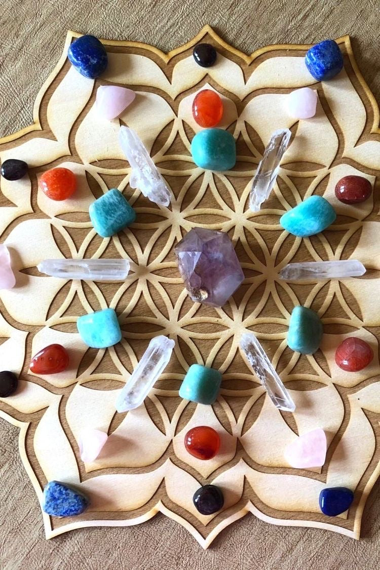 Flower Crystal Grid