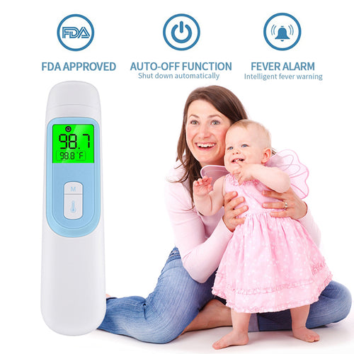 Medical NON CONTACT Digital IR Infrared LCD Body Forehead Objects Thermometer