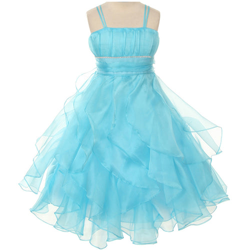MULTI LAYERS ORGANZA SKIRT WITH RHINESTONES ON WAISTLINE