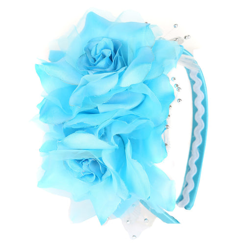 SATIN AND ORGANZA FLOWERS HAIRBAND FOR GIRLS