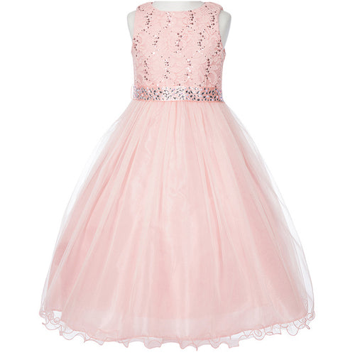 SEQUINS TOP BODICE DOUBLE LAYER TULLE SKIRT