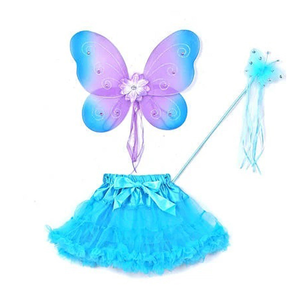 3-PIECE SET WING WAND AND SOFT TULLE TUTU