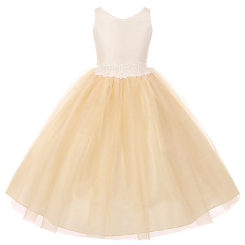 TWO TONE ORGANZA BODICE AND TULLE SKIRT