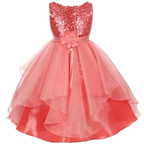 SEQUINS TOP BODICE HANDKERCHIEF RUFFLE ORGANZA SKIRT