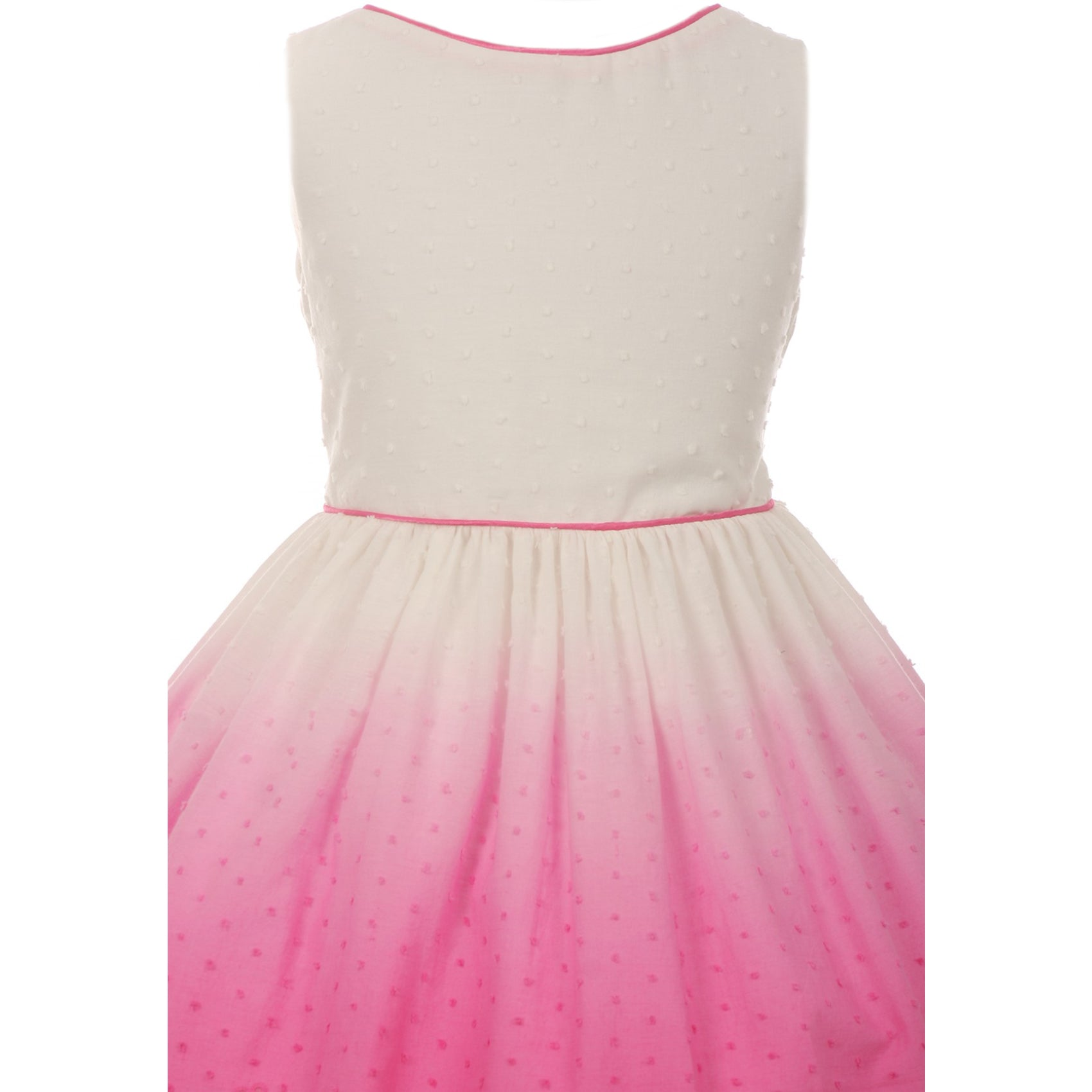 OMBRE COTTON CUTOUT DRESS