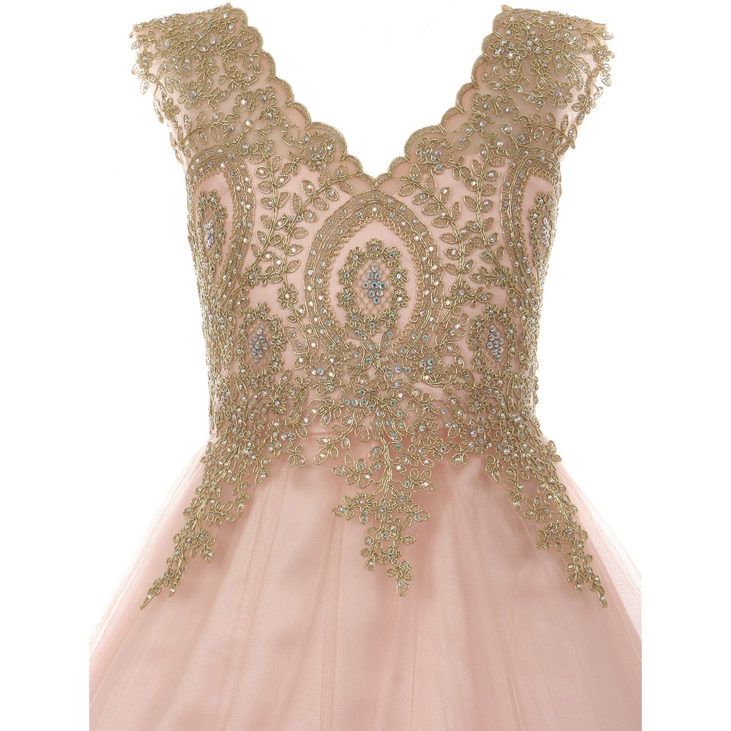GOLD COILED LACE BODICE