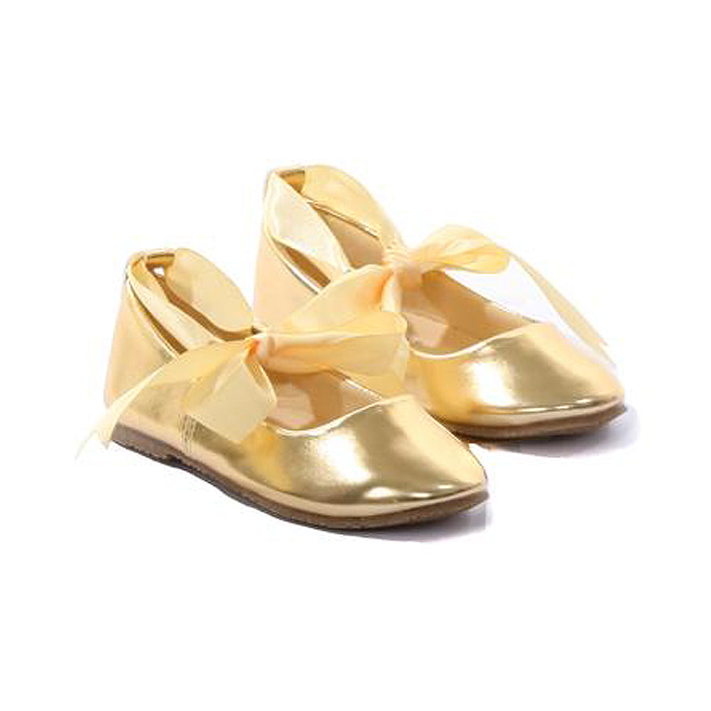 BALLERINA SHOES WITH RIBBON TIES