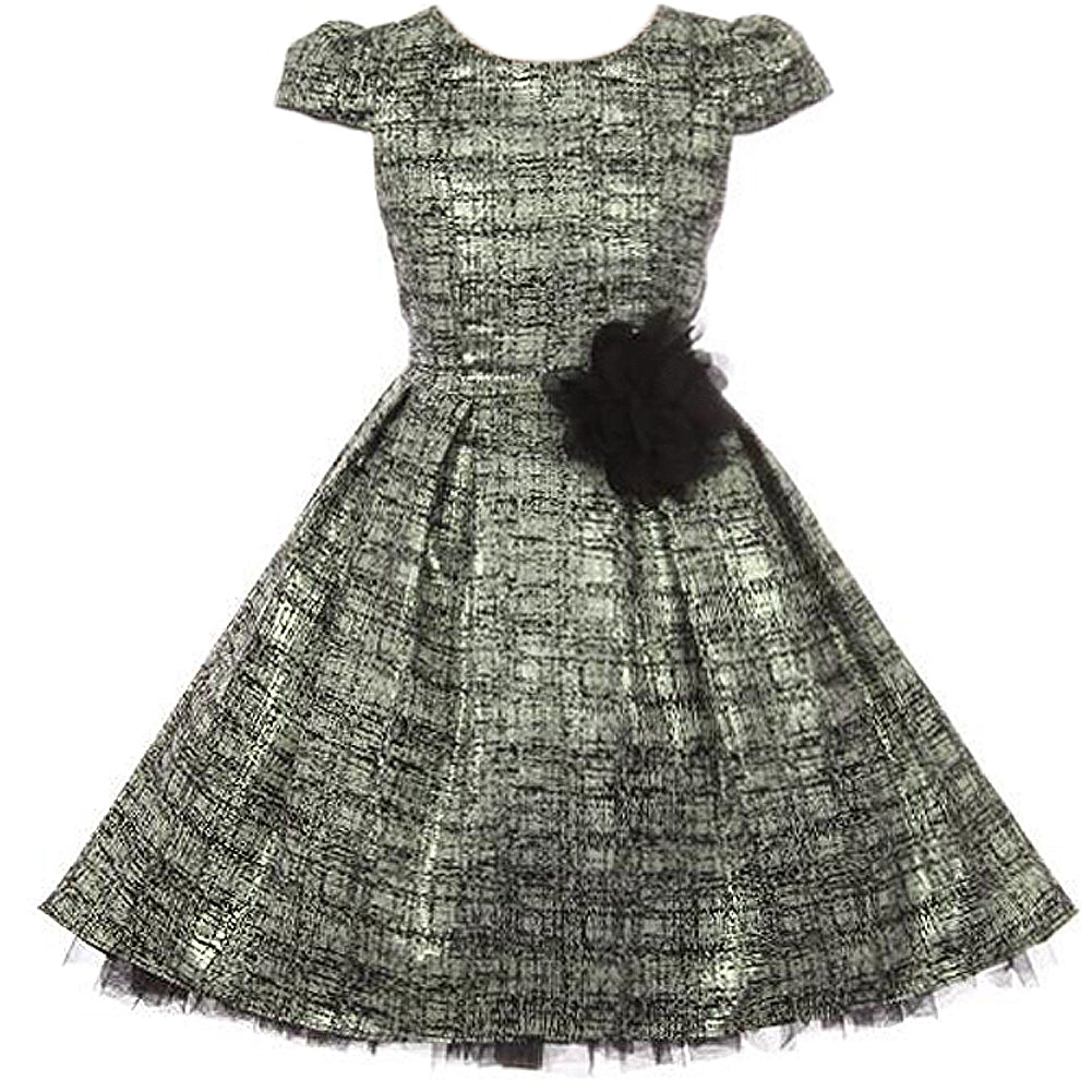 PEEK-A-BOO LAYERS TULLE HI LOW STYLE BROCADE JACQUARD