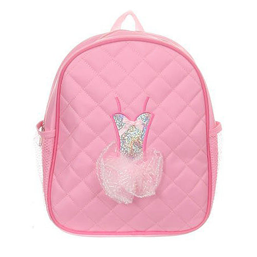 QUILTED RAISED BALLET DRESS DECORATION BACKPACK