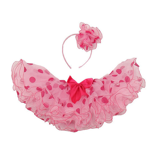 CURLY POLKA DOT TUTU WITH HEADBAND