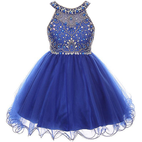CRYSTAL RHINESTONES BODICE WITH WIRED TULLE SKIRT