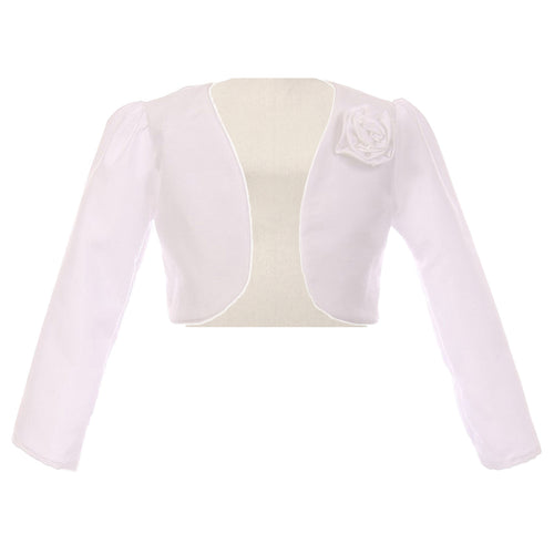 LONG SLEEVE SATIN BOLERO