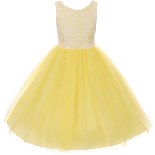 LACE BODICE WITH FOUR LAYERS ILLLUSION TULLE SKIRT