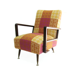 checkered chair