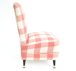 pink and white chair