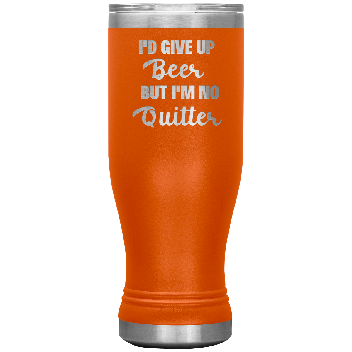 Engraved Pilsner Tumbler Funny Insulated Beer Glass