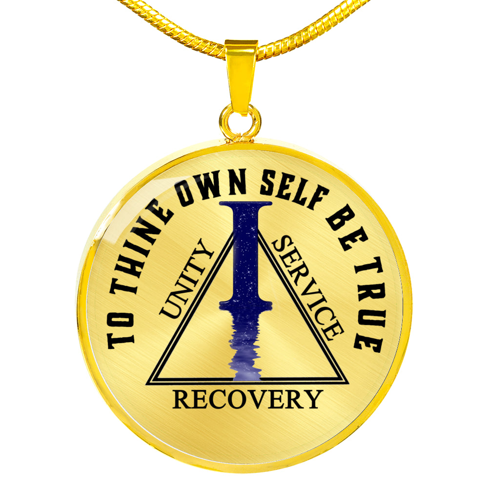 One Year Sobriety Necklace