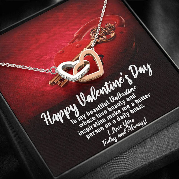 To My Beautiful Valentine Heart Necklace