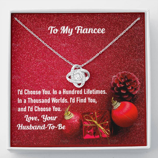 I'd Find You and I'd Choose You Knot Necklace