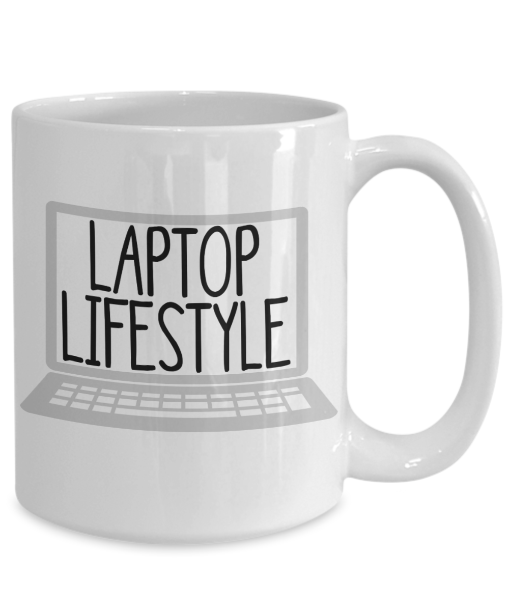 Best Entrepreneur Gift Laptop Life Style Online Success Mug